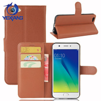 Strong Magnetic Stand PU Leather Wallet Cover Flip Case for Oppo A57