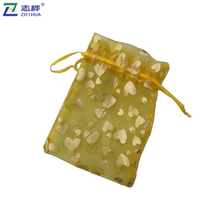 ZHIHUA brand Wedding custom color printed logo Wholesale Large fabric cloth Gift Organza Bag