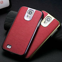 wholesale Shiny back cover for samsung galaxy s4 pu leather case for samsung i9500 smart phone cover for i9500