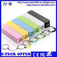 keychain power bank usb charger 2000mah portable power bank