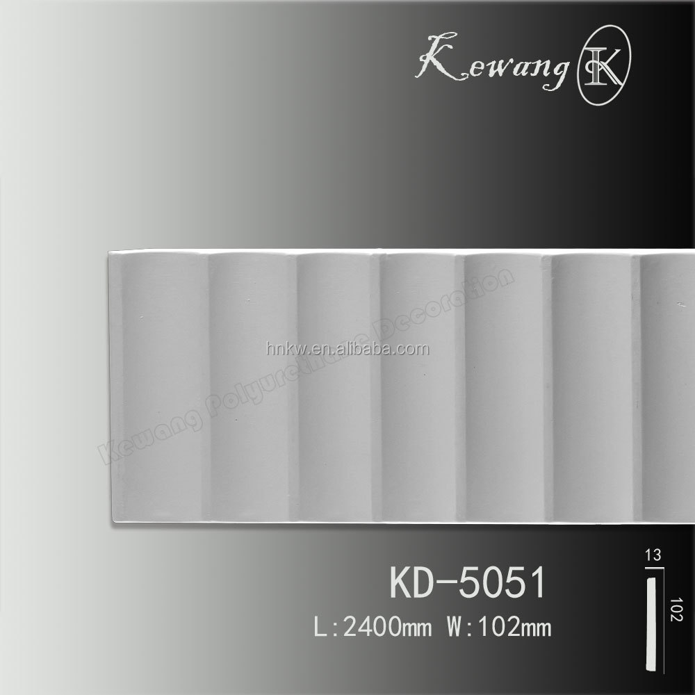 Eco-friendly polyurethane PU plain panel mouldings millwork