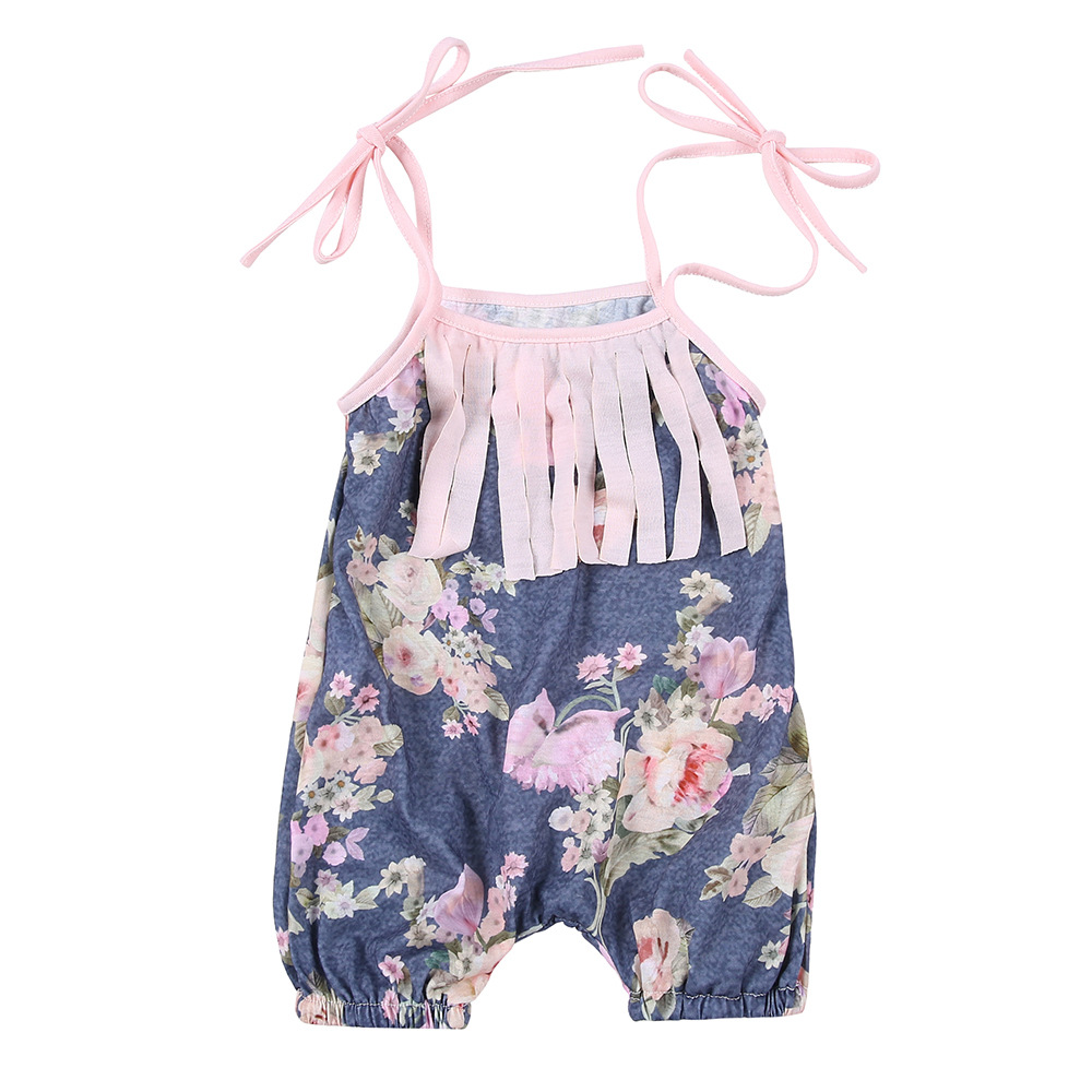 2017 Newest Design Romper Cheap Baby Girls Summer Hot Rompers 7 Sizes Floral Baby Rompers Newborn Baby Clothes