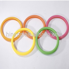 Eco-friendly pure silicone steering wheel cover auto car accessories colorful in-car decoration