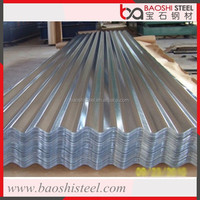 Lightweight cost effective corrugated zinc sheet roof tiles