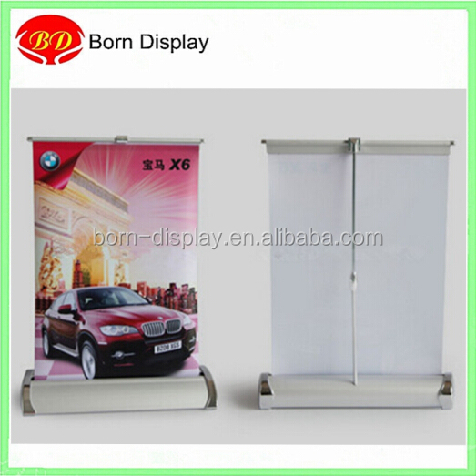 Mini aluminum stand tabletop a3 size roll up banner
