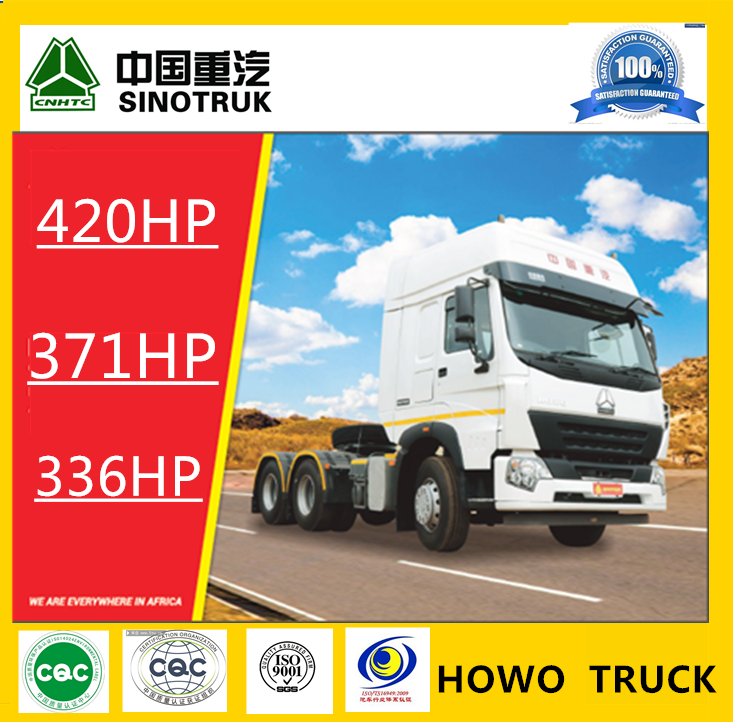 Sinotruk HOWO 10 wheelers 336/371 HP trailer head truck prices