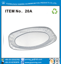 Item No 20A disposable partyware roasting aluminium oval plate food packaging aluminium turkey tray