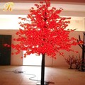 Outdoor red light maple tree with metal pole for street decoration