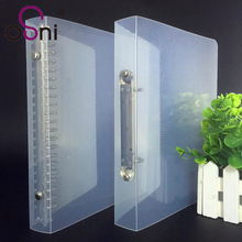 High quality stationery file 2, 6, 9 rings transparent plastic ring binder folder
