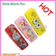 Plastic beautiful and new design pencil case ruler sharpener pencil