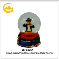 Resin Snow Globe Spain Tourist Souvenir