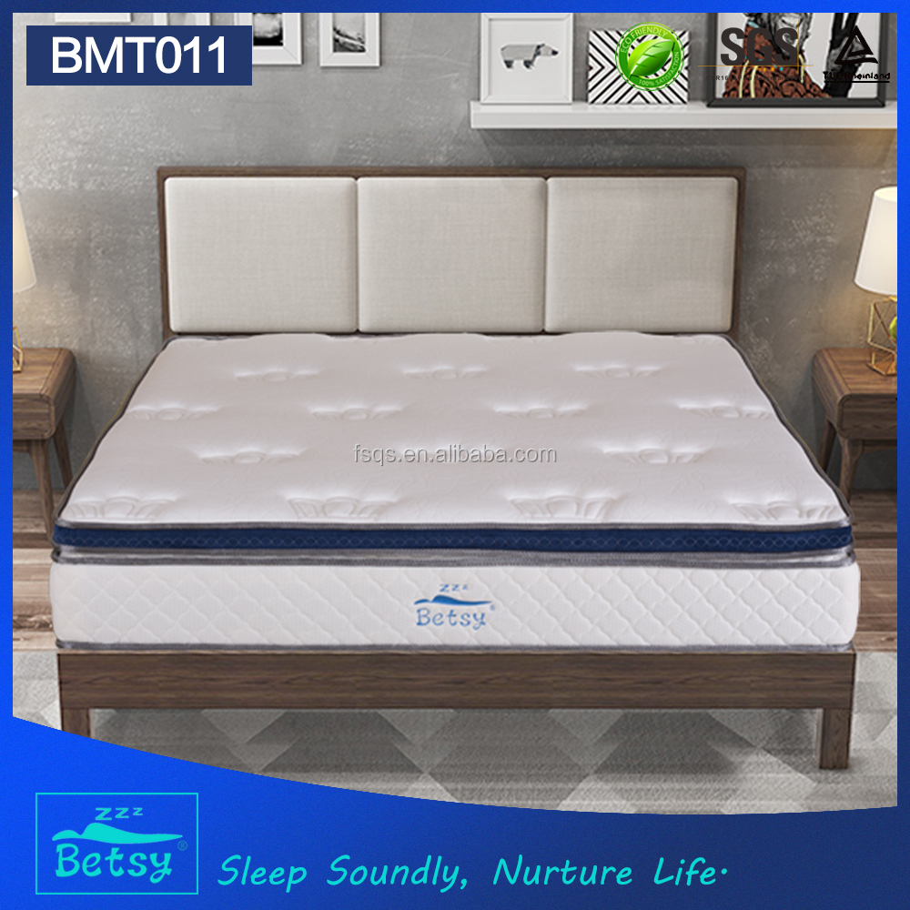Kingdom bed and mattress box top design with pocket spring and gel memory foam and wave foam layer