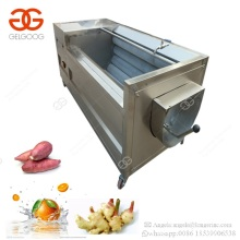 Commercial Used Vegetable Fruit Brushing Type Scallop Carrot Washing Fish Cleaner Artichoke Sweet Potato Peeling Machine Price