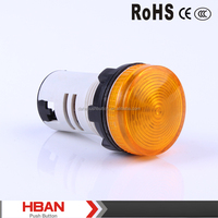 TUV UL ROHS HB(AD)16-22BSeries( 22mm) Small Plastic Flash led,indicator light,yellow colored lighting ,380V