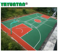 Polyurethane basketball court sports flooring