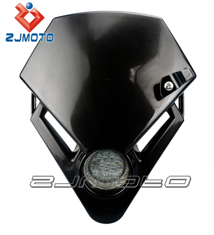 Black Dirt bike Motorcycle Universal Vision LED Headlight similar with GASGAS TXT PRO 280 125 Racing motorcycle headlamp