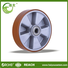 pu wheel with aluminum center 100-300mm
