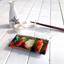 Japanese Food Sushi Container KW1-1101FB Plastic Food Packaging Sushi Tray