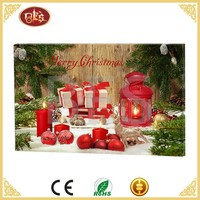 China Xmas Christmas Wall Decoration Picture Digital Artwork Print On Canvas