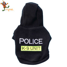 PGPC0595 Wholesale Cute Fleece Cotton Police Pet Dog Hoodies Coat Clothes