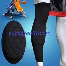 Wholesale Honeycomb Pad Antislip Basketball Knee Long Sleeve Protector Support Brace