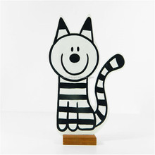 Wooden striped cat Jack Wooden decoration