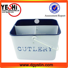 small double wall metal tin bucket with stainle steel plastic handle