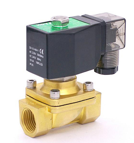 "GOGO 2 way Pneumatic Brass water solenoid valve zero pressure start G1/2"" 12V DC Orifice <strong>10mm</strong> normal close PU-15 with plug type"