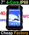 Cheapest 7inch 4G LTE NFC rugged waterproof smart phone with Android 5.1 OS GPS IP68 dustproof cell phone industry phone