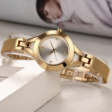 Fashion quartz watches stainless steel water resistant alloy luxury band watches ladies
