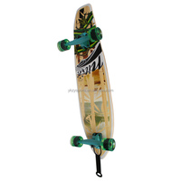 blank bamboo skateboard decks long skate board with transparent wheels