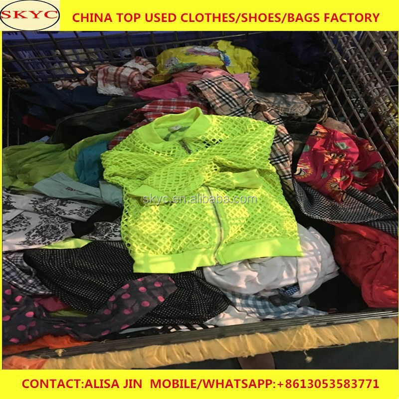 China genuine used clothing company direct factory price export used clothes to African buyers