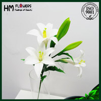 interior decor lily flower artificial flower stems