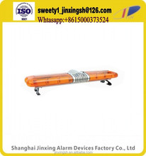 Wholesale amber red and blue revolving emergency top warning light bar used police emergency ambulance vehicle light