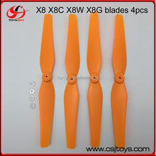 New syma X8 X8C X8W X8G axis remote control drone propeller fan blade main blade black and white orange X8C-05-06