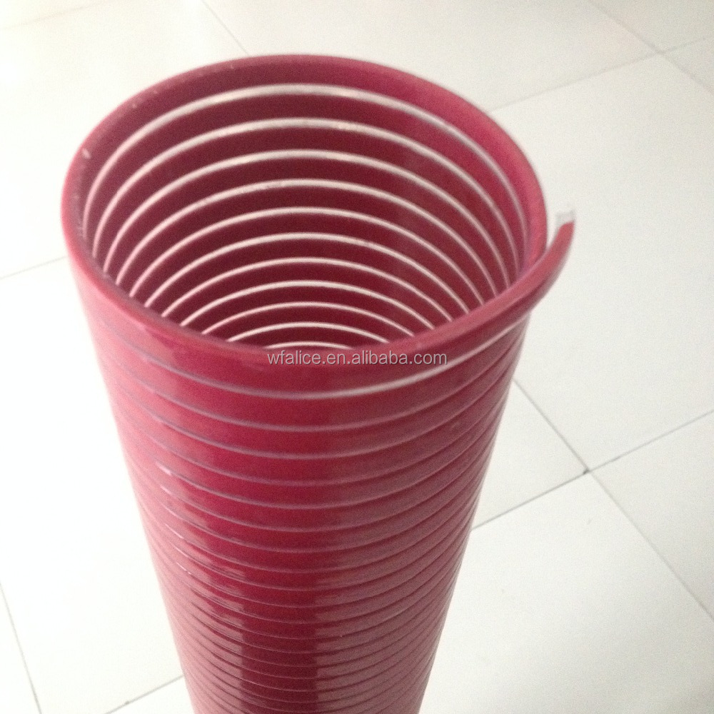 Inch flexible pvc suction hose pipe water