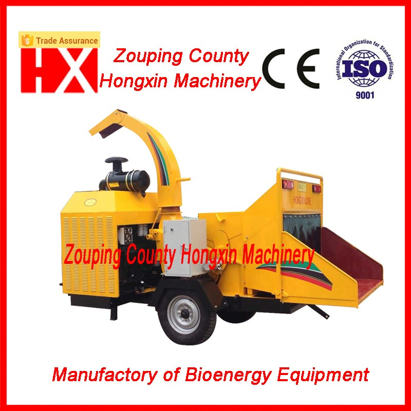 Hot selling Diesel engine Mobile wood chipper HXBC1000 for landscaping job