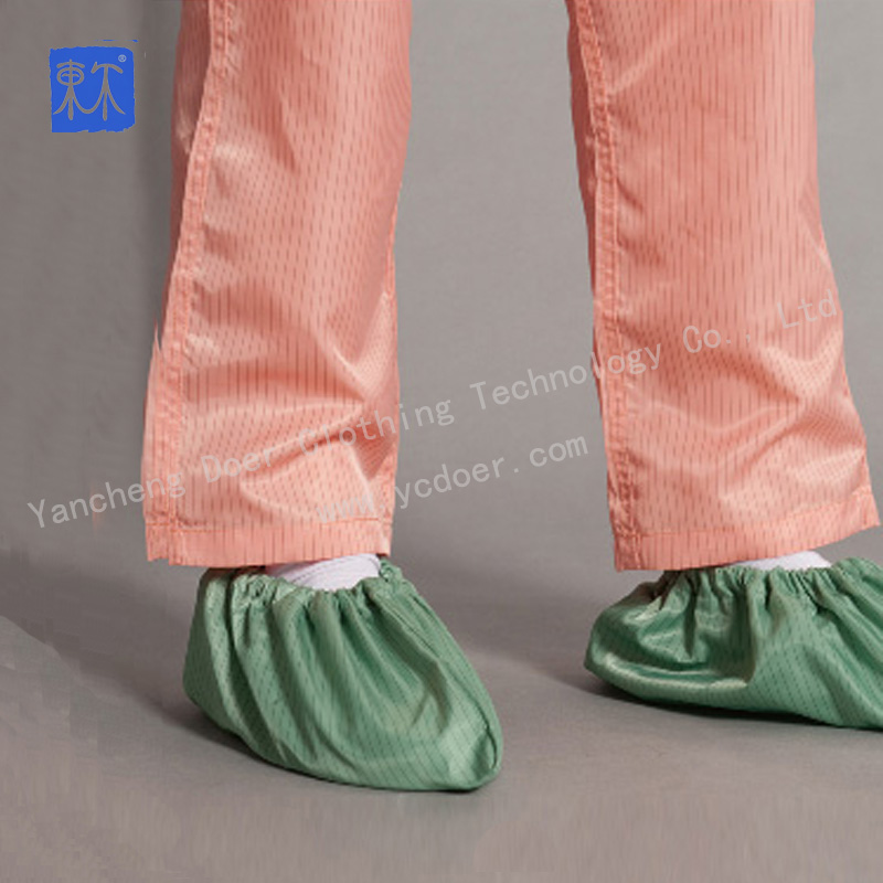 Durable Washable Reusable Polyester ESD Shoe Cover
