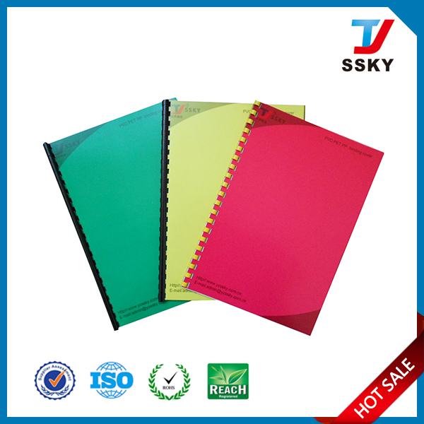 durable plastic hard pvc binding cover