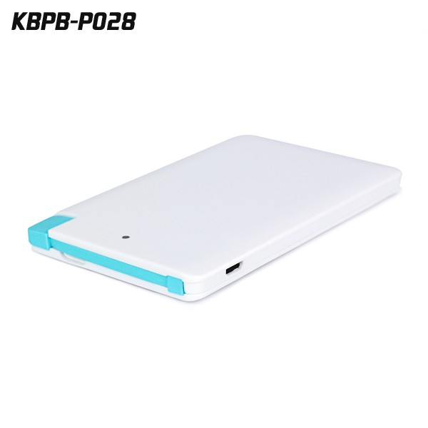 Popular Products 4000mAh portable power bank 4000 mAh ,credit card usb powerbank , silm travel portable battery charger