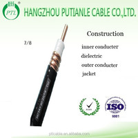 50ohms 7/8 Corrugated Copper Tube Coaxial Cable for communication with best price