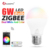 High lumen gledopto 6 watt rgbww zigbee led light bulb E27 E26 B22 work with amazon alexa voice-control