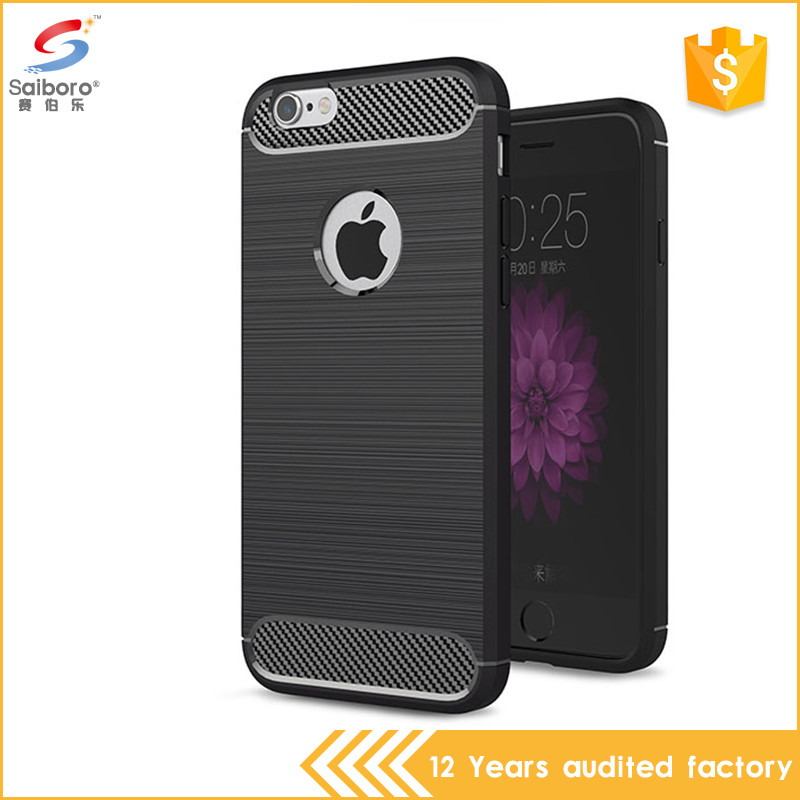 Popular style brushed carbon fiber soft tpu case for iphone 5