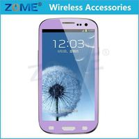 Full Color Screen Protector Film Tempered Tuflite Glass toughened Glass Front For Samsung Galaxy S3