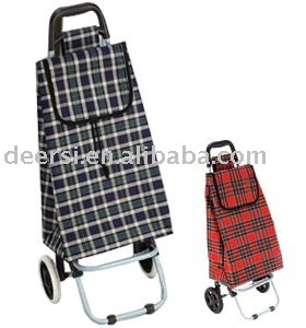tartan shopping trolley