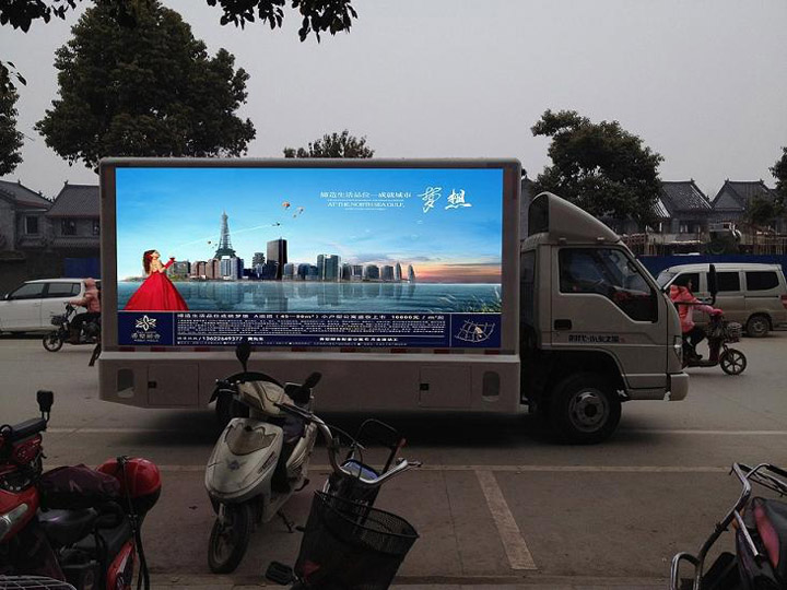Shenzhen P6 outdoor full color video board truck mounted electronic advertisng led display outdoor advertising screen