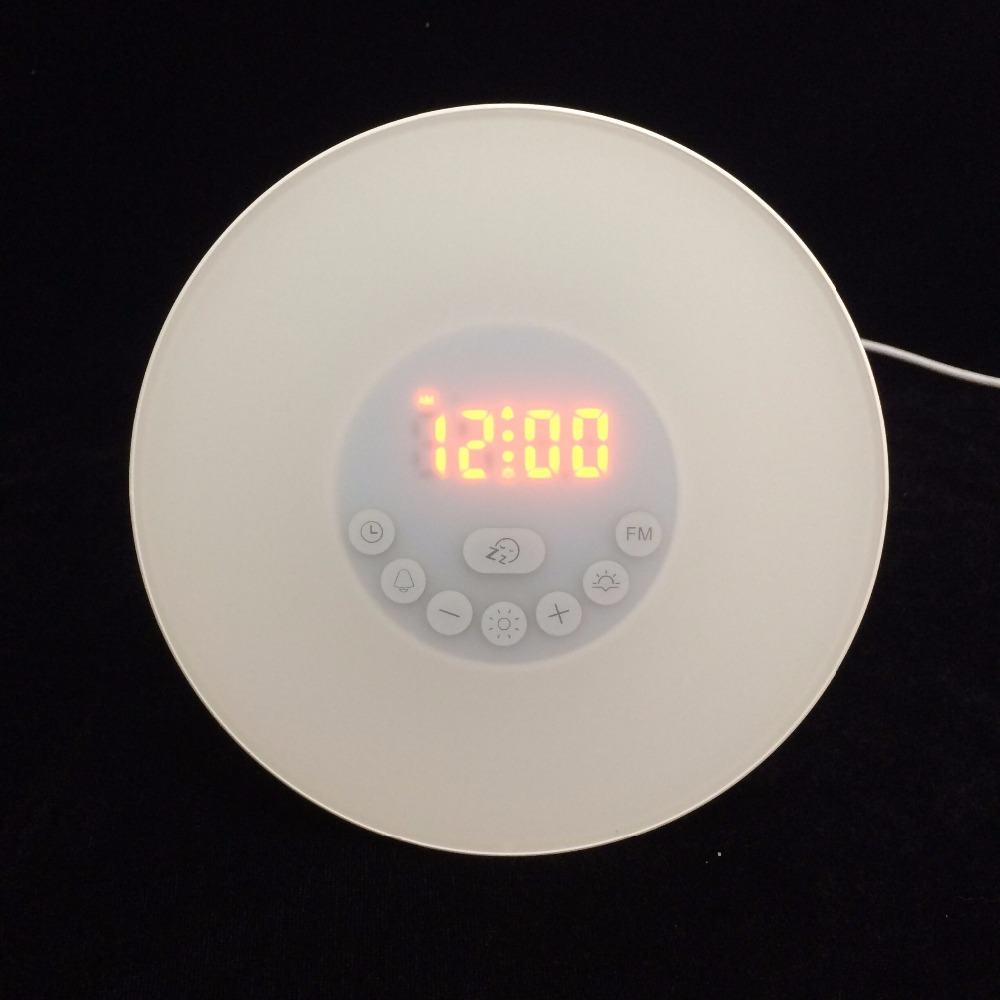 GOGO FASHION 7 LED Colour Changing Digital Alarm Clock Thermometer Date Time Night Light/Creative Home