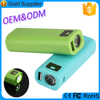OEM and ODM service LED torch plastic mobile power bank 2600 mah