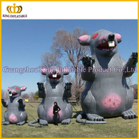Custom new guagnzhou inflatable animal,PVC inflatable advertising rats