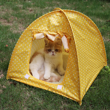 Foldable Cat Play House Pet Tent Bed